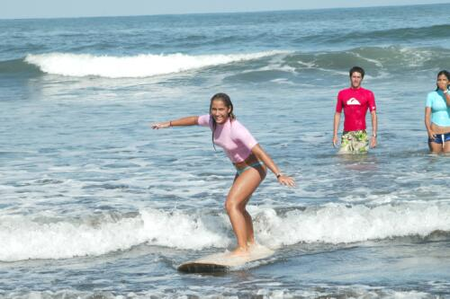Our instructors guarantee that you can stand up & ride a wave with one class