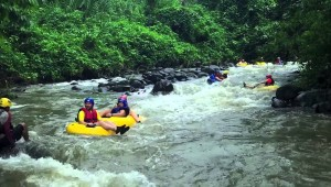 White water river tubing in Costa Rica
