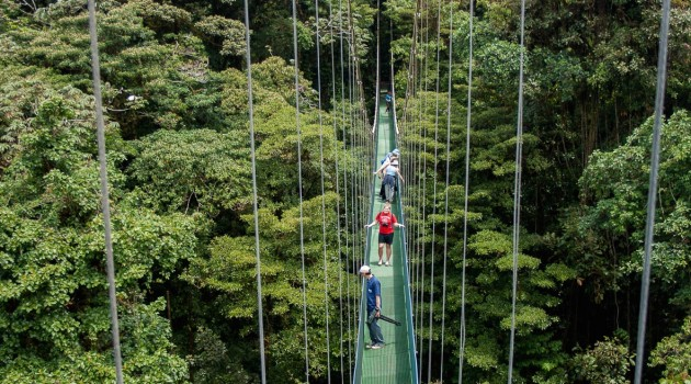 Sky walk at arenal volcano Costa Rica