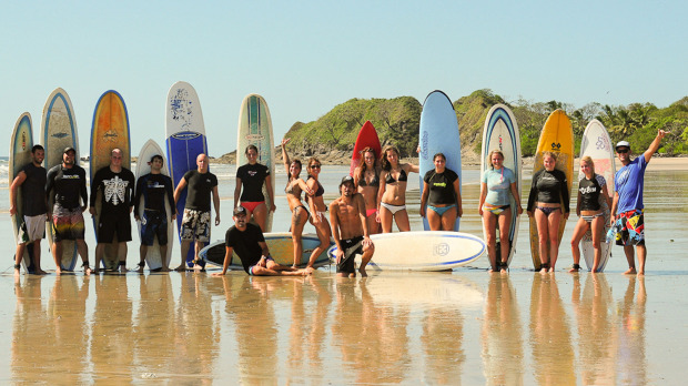 Surfing classes at Tamarindo Beach Costa Rica