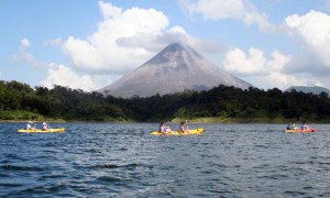 Kayaking Lake Arenal