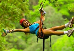 Tree top canopy zip lining in Costa Rica with Bill Beard's