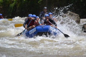 White water river rafting Arenal Volcano