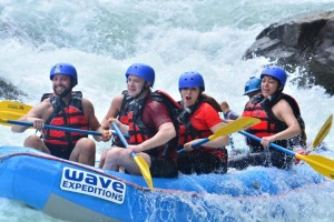 White water river rafting in Costa Rica