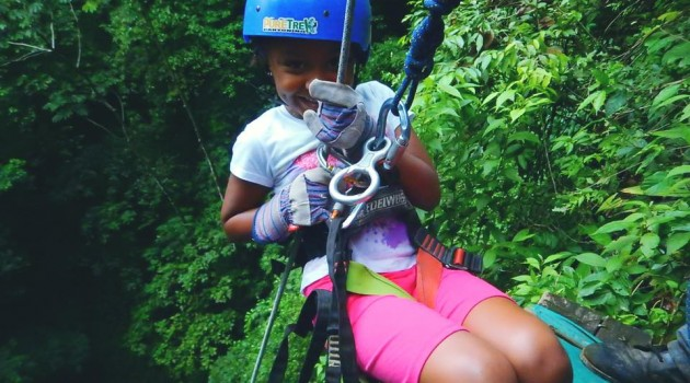 Waterfall rappelling in Costa Rica Near Arenal Volcano