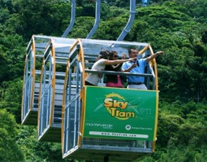 Sky tram at Arenal Volcano Costa Rica with Bill Beard;s