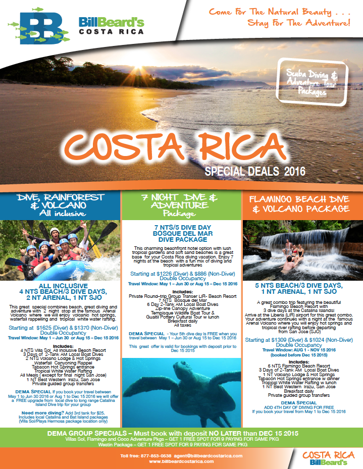 Dema specials from Costa Rica