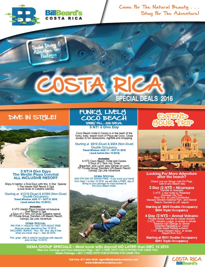 DEMA Show Specials Costa Rica