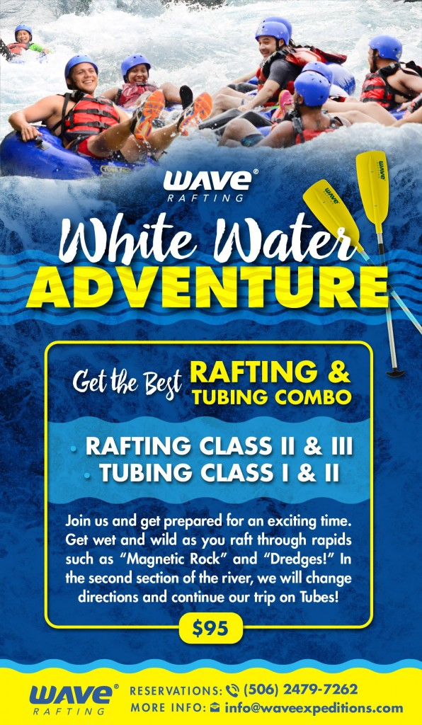 Combo river rafting & tubing Costa Rica