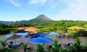 Hot springs resort and Arenal Volcano Costa Rica