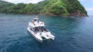 Scuba diving boat at Catalina Islands Costa Rica with Bill Beard's
